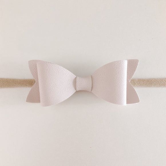 Mini Leather Bow Headbands (6 Colours)