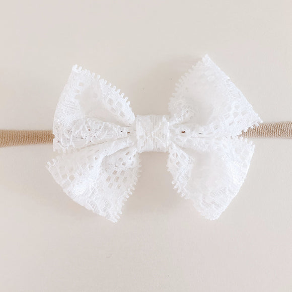 Double Lace Bow Headband