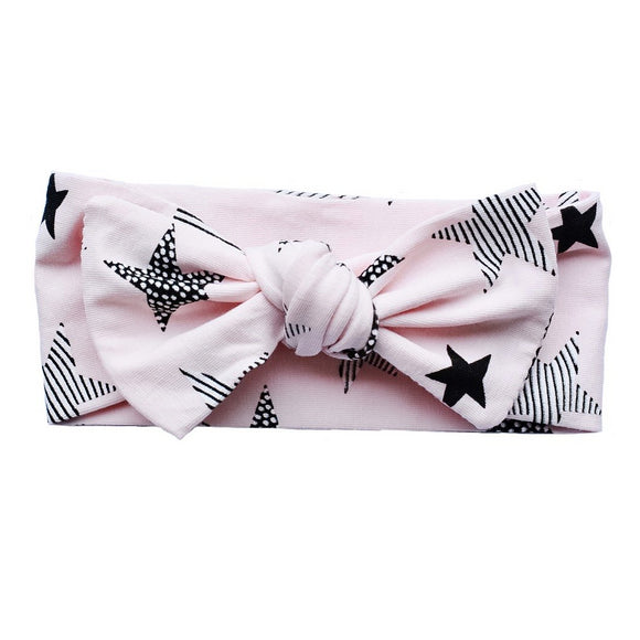 Newborn Pink Start Knot Headband