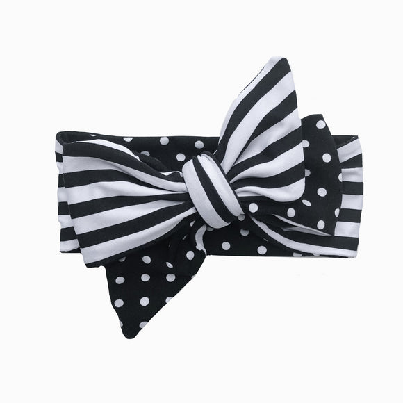 Polka dot & Striped Classic Bow Headband