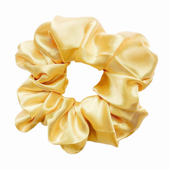 Butter Yellow Satin Scrunchie