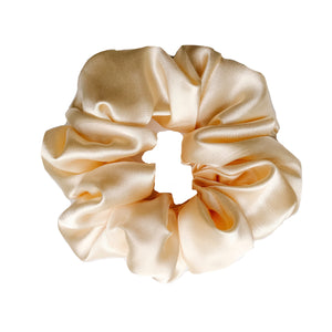 Baby Yellow Satin Sleep Scrunchie