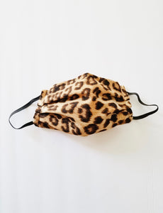 1 NON MEDICAL Leopard Face Mask With Metal Nose Clamp
