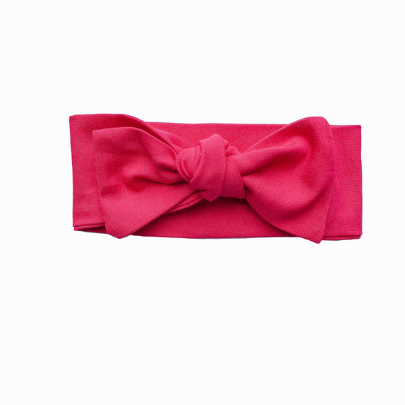 Newborn Hot Pink Knot Headband