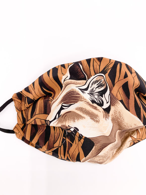Silk Animal Print Face Mask