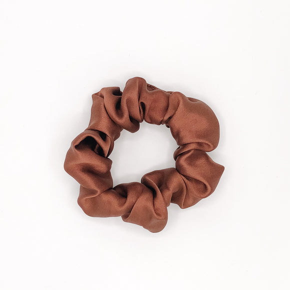 Chocolate Mulberry Silk 'Mini' Scrunchie