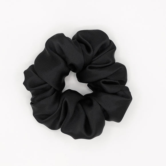 Black Mulberry Silk Scrunchie