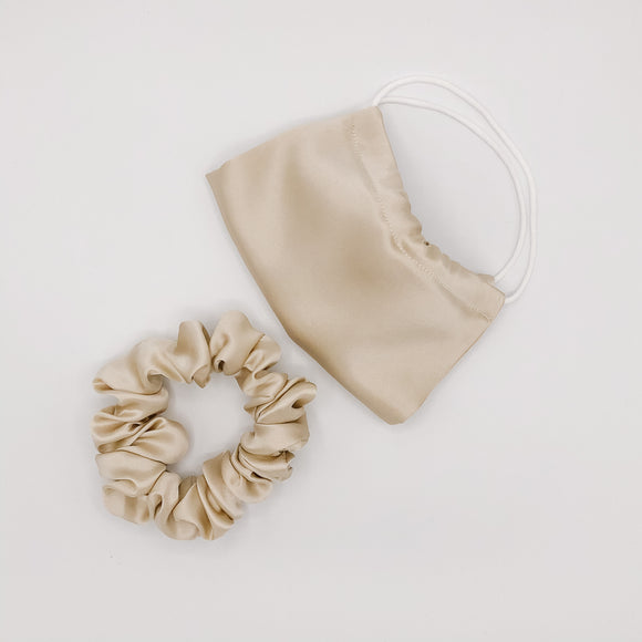 Creamy Beige Silk Holiday Gift Bag
