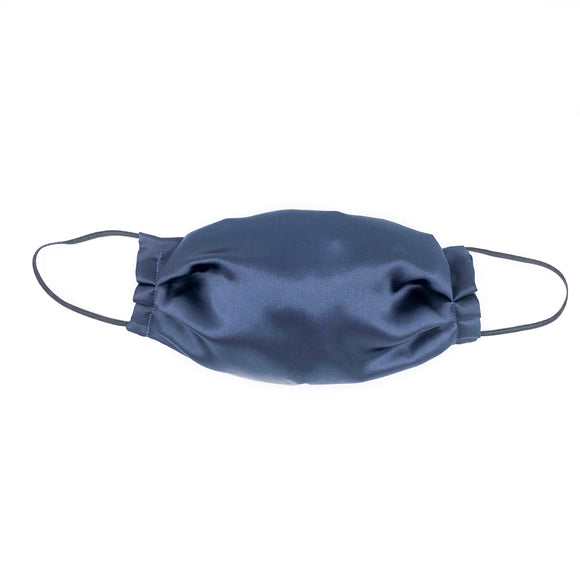 Navy Mulberry Silk Face Mask