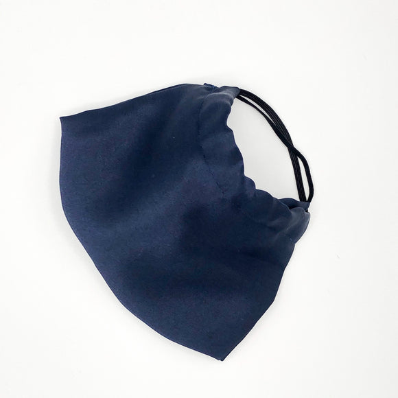 Navy ADJUSTABLE Mulberry Silk Face Mask