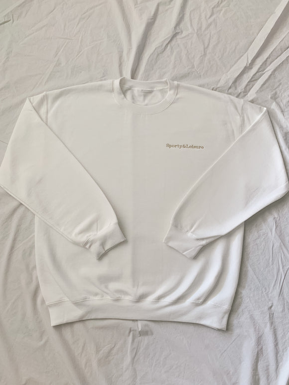 White Sporty & Leisure Crewneck (sand)