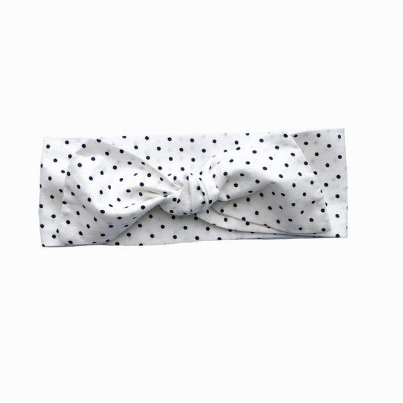 Newborn Cream Polka Dot Headband