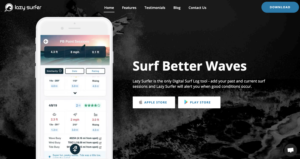 Lazy Surfer app