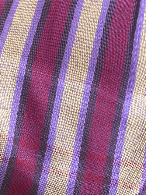 Kikoy Towel: Pink/Purple/Yellow Stripes with Orange terry lining - Salt and Reverie