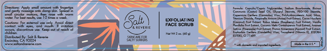 Salt & Reverie Exfoliating Face Scrub for Salty Surfers - Salt and Reverie