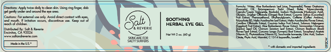 Salt & Reverie Soothing Herbal Eye Gel for Salty Surfers - Salt and Reverie