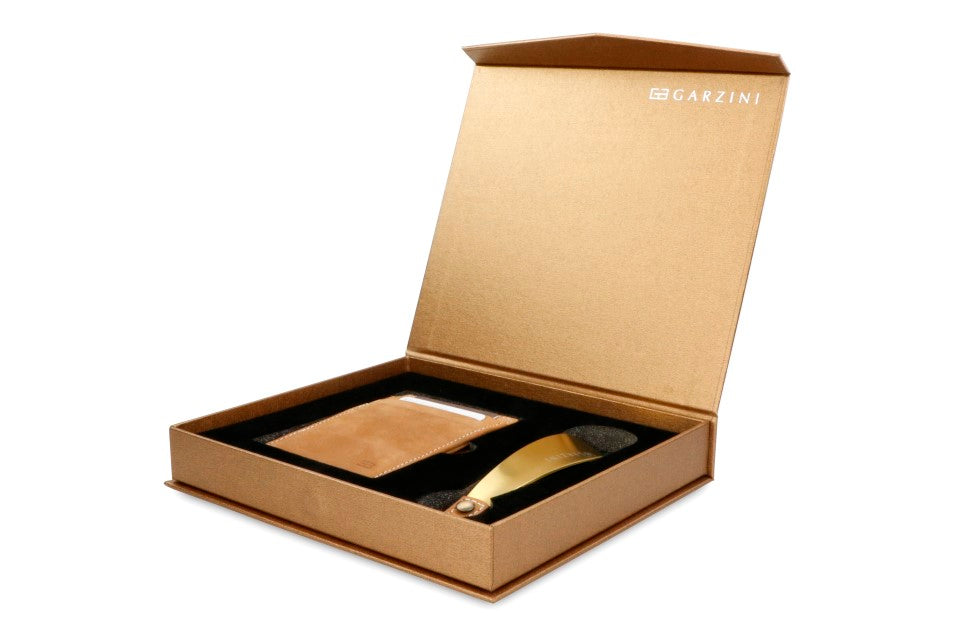 Gift Box with Shoe Horn Vintage - Camel Brown - 1