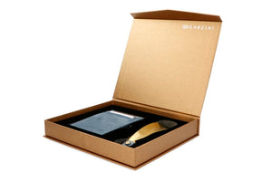Gift Box with Shoe Horn Vintage - Sapphire Blue - 1