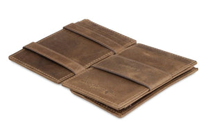 Essenziale Magic Coin Wallet Brushed - Brushed Brown - 3