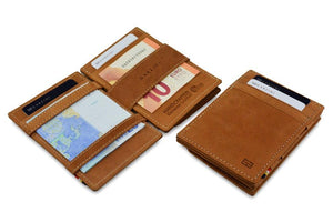 Magic Coin Wallet Garzini Essenziale - Camel Brown - 4
