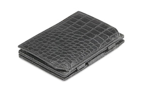 Essenziale Magic Coin Wallet Croco - Croco Black - 1