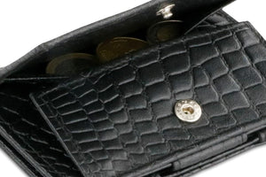 Essenziale Magic Coin Wallet Croco - Croco Black - 5