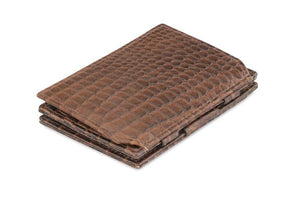 Essenziale Magic Coin Wallet Croco - Croco Brown - 1
