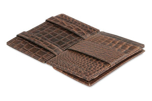 Essenziale Magic Coin Wallet Croco - Croco Brown - 3