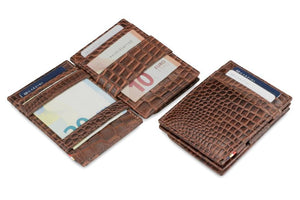 Essenziale Magic Coin Wallet Croco - Croco Brown - 4