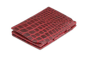 Essenziale Magic Coin Wallet Croco - Croco Burgundy - 1