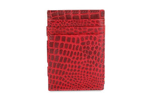 Essenziale Magic Coin Wallet Croco - Croco Burgundy - 2
