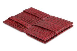 Essenziale Magic Coin Wallet Croco - Croco Burgundy - 3