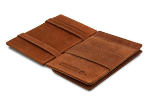 Magic Coin Wallet Garzini Essenziale - Java Brown - 3