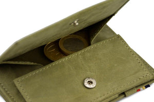 Magic Coin Wallet Garzini Essenziale - Olive Green - 5