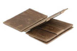 Magistrale Magic Coin Wallet Brushed - Brushed Brown - 3