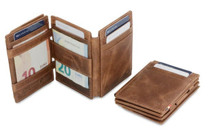 Magistrale Magic Coin Wallet Brushed - Brushed Brown - 6