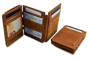 Magic Coin Wallet Garzini Magistrale - Camel Brown - 6