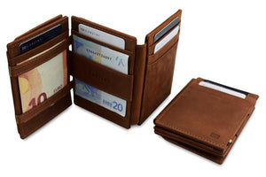 Magic Coin Wallet Garzini Magistrale - Java Brown - 6