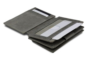 Magic Coin Wallet Garzini Magistrale - Metal Grey - 4