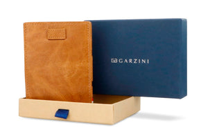 Cavare Magic Coin Wallet Card Sleeve Brushed - Brushed Cognac - 7
