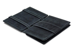 Cavare Magic Coin Wallet Card Sleeve Vintage - Carbon Black - 3