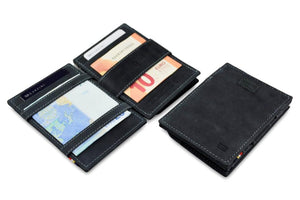 Cavare Magic Coin Wallet Card Sleeve Vintage - Carbon Black - 4