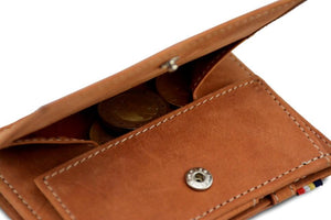 Cavare Magic Coin Wallet Card Sleeve Vintage - Camel Brown - 5