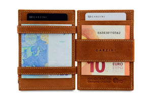 Cavare Magic Coin Wallet Card Sleeve Vintage - Camel Brown - 6