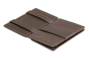 Cavare Magic Coin Wallet Card Sleeve Nappa - Chocolate Brown - 3