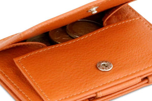 Cavare Magic Coin Wallet Card Sleeve Nappa - Cognac Brown - 5