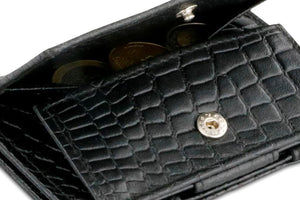 Cavare Magic Coin Wallet Card Sleeve Croco - Croco Black - 5