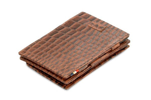 Cavare Magic Coin Wallet Card Sleeve Croco - Croco Brown - 1