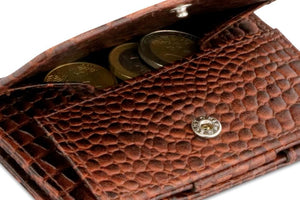 Cavare Magic Coin Wallet Card Sleeve Croco - Croco Brown - 5
