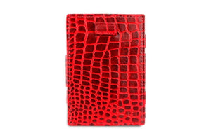 Cavare Magic Coin Wallet Card Sleeve Croco - Croco Burgundy - 2